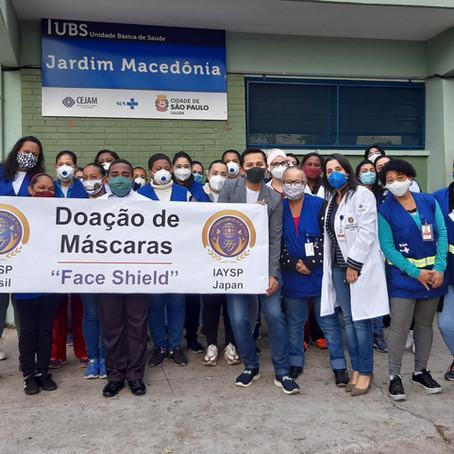 Doação de Máscaras no Jardim Macedônia