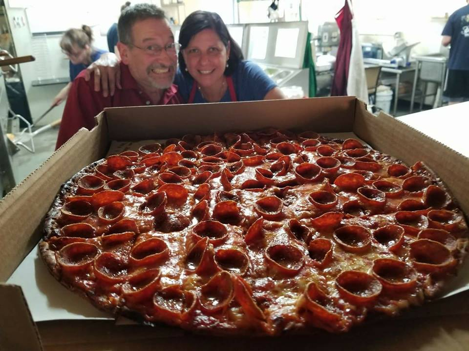 gigantic pizza
