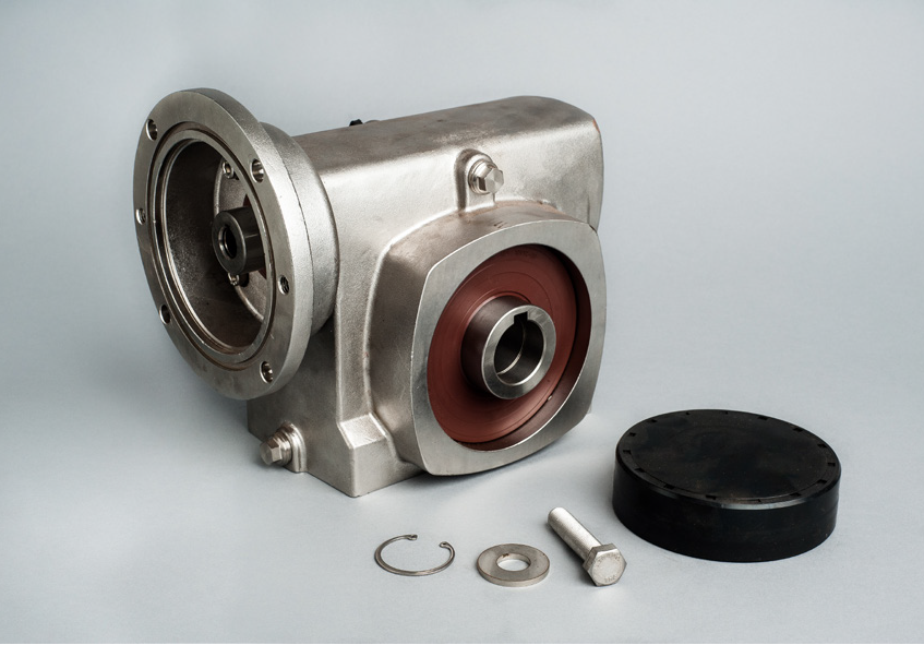 Ring, Bolt and Washer supplied for mounting to customer shaft. Seal Plug for protect of rotating output shaft.
