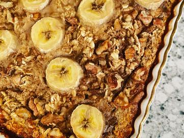 Baked Banana & Walnut Oatmeal