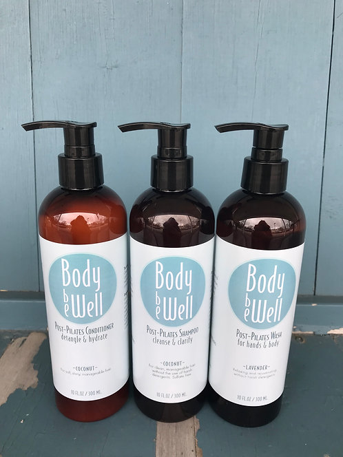 Body Be Well Post Pilates Shampoo, Conditioner & Wash Set