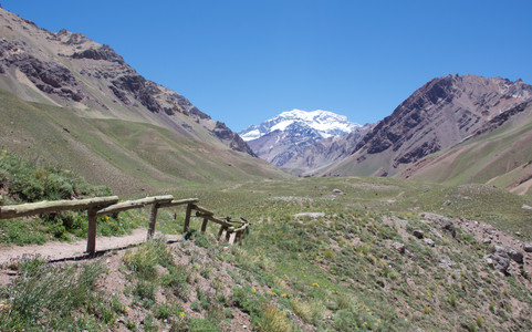 """At nearly 7,000 m (23,000 ft), Aconcagua is the highest peak outside of Asia. It is believed to have the highest death rate of any mountain in South America – around three a year – which has earned it the nickname """"Mountain of Death""""."""