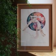 affiche A3 - yoga cosmogonique#1