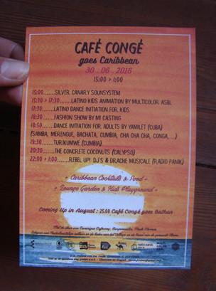 CAFE CONGE GOES CARIBBEAN juillet 2016