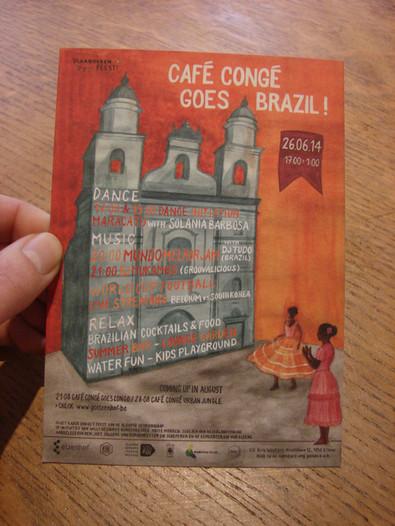 CAFE CONGE GOES BRAZIL juillet 2014