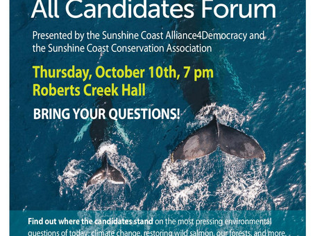 All Candidates Meeting October 10th