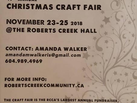 Volunteers needed for Christmas Craft Fair Nov 23-25