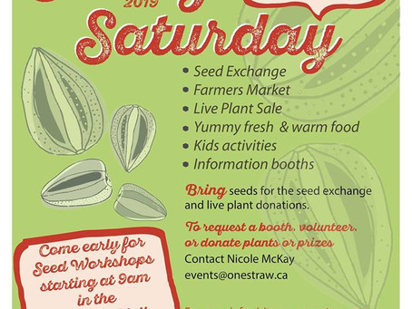 Seedy Saturday! March 9th is just around the corner!