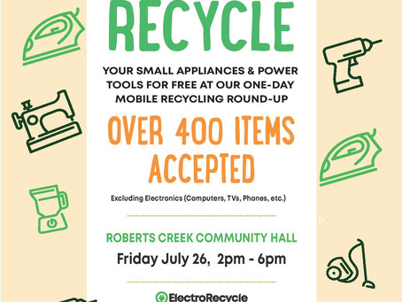 JULY 26th RECYCLE your power tools and appliances!