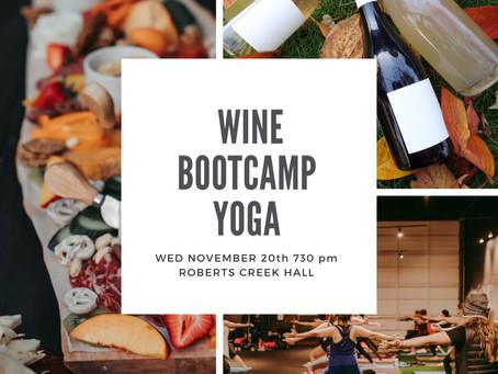 Wine Yoga Wednesday November 20th