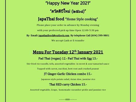 Japathai menu for this Tuesday!
