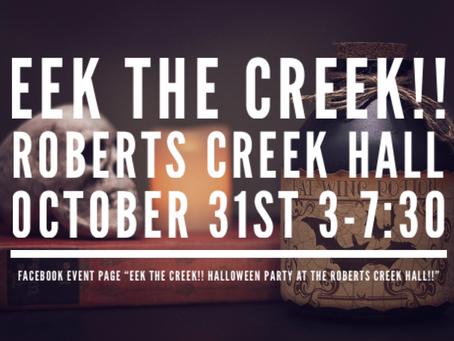 EEK THE CREEK! Halloween at the Hall