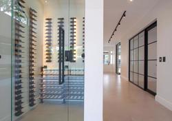 Backlit Wine Cellar