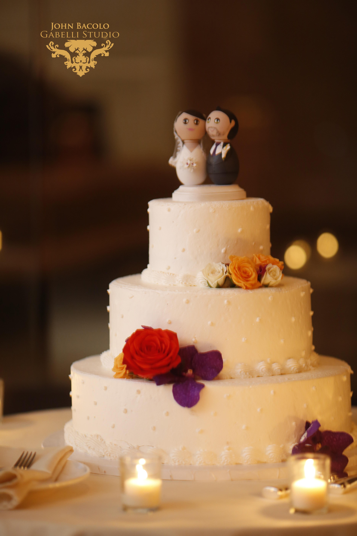 Purple & Orange Cake Flowers