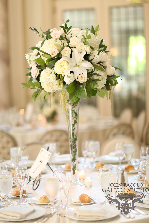 tall white & green garden style
