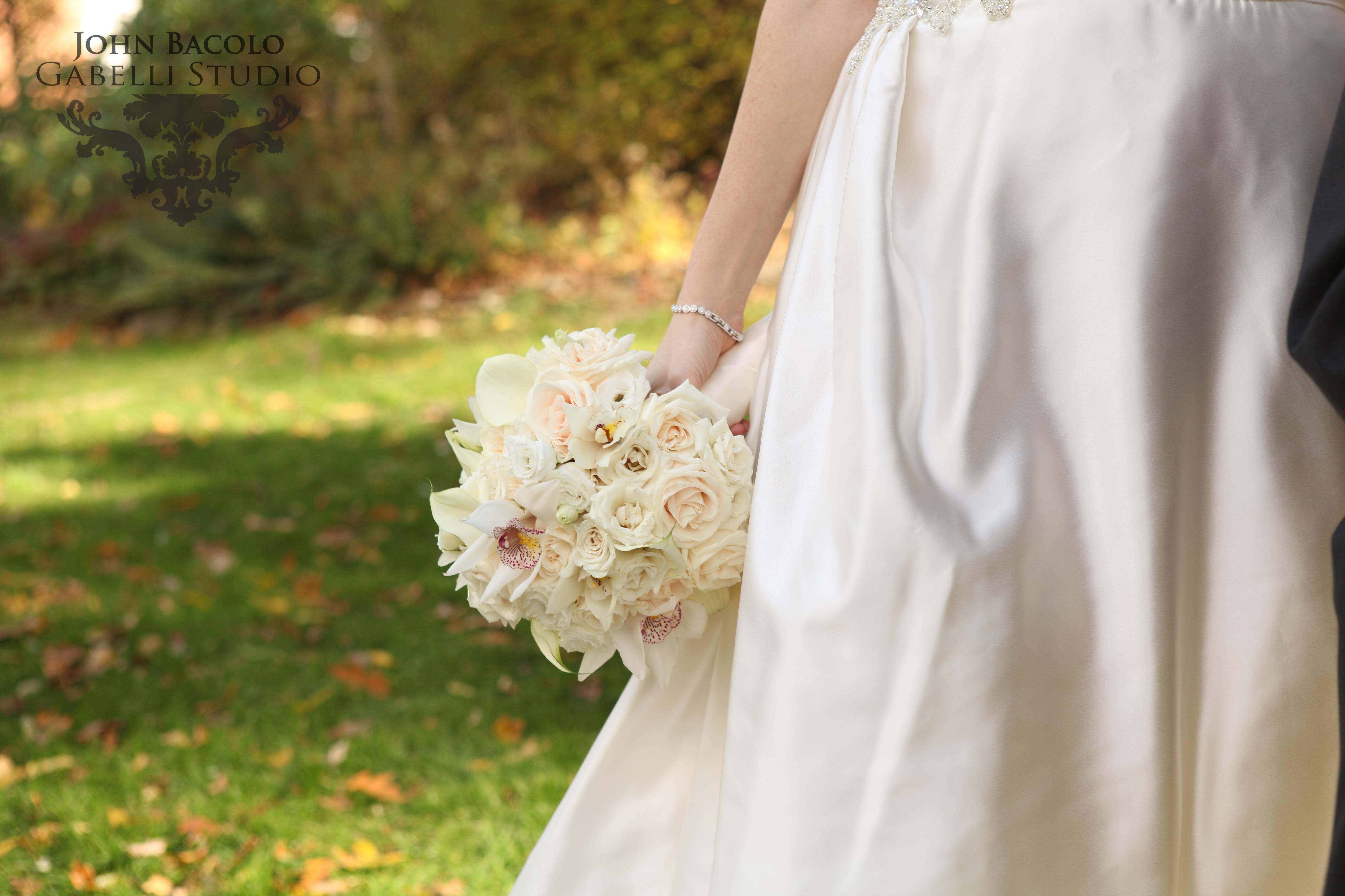Cream, ivory, white bridal bouquet