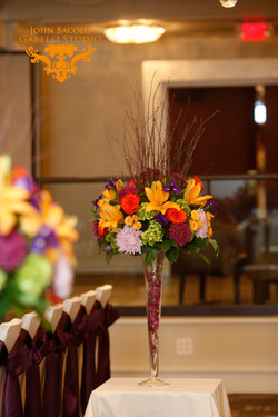 Tall Purple & Orange Centerpiece
