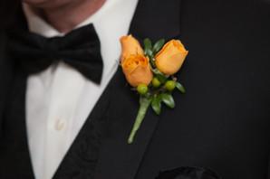 Golden Yellow Spray Rose Boutonniere