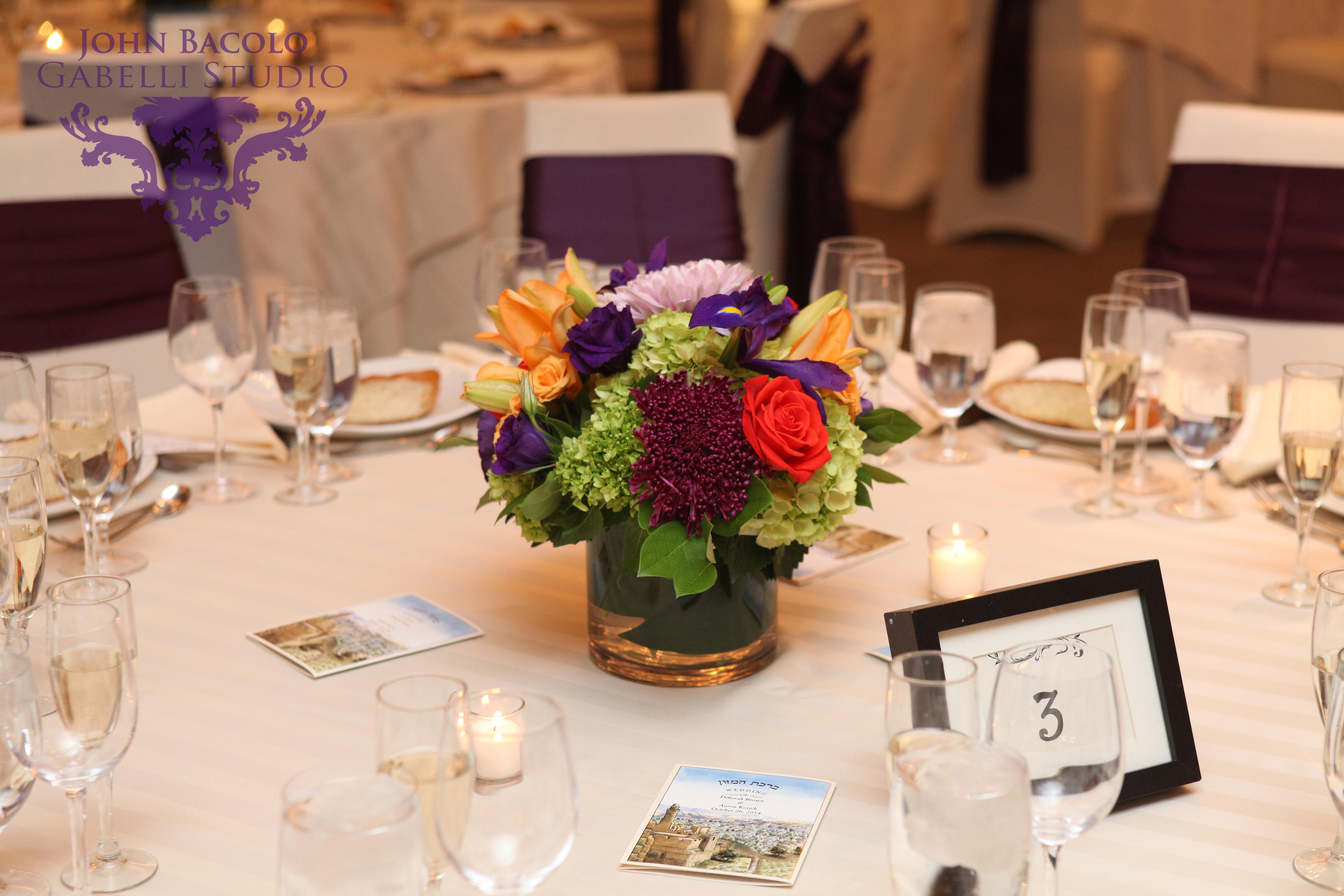 Low - Purple, orange, green vase