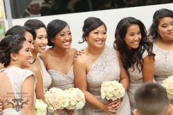 Bridesmaids white & cream flowers