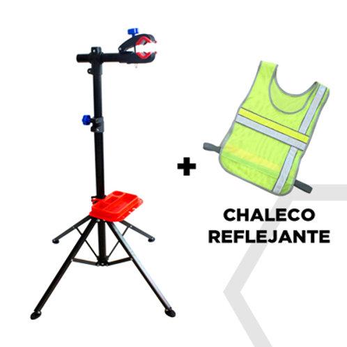 Soporte para reparar bicicletas + Chaleco