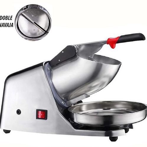 Maquina De Raspados Compacta Cuerpo De Aluminio Y Doble Navaja
