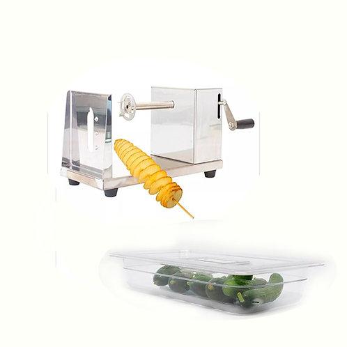 Máquina Para Hacer Espiropapas + Inserto De Plástico Tercio