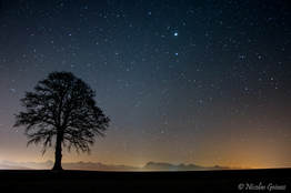 Nuit étoilée en Glâne