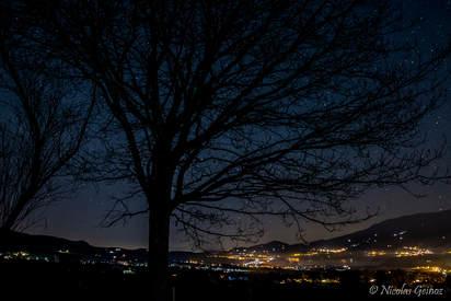 Nuit étoilée depuis les hauts de Marsens