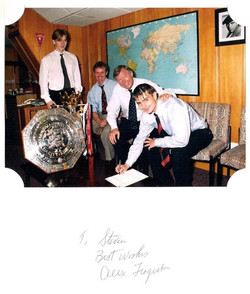 Mick Clegg and Sir Alex Ferguson with so