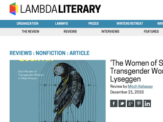 SPECTACULAR BOOK REVIEW FROM LAMBDA LITERARY