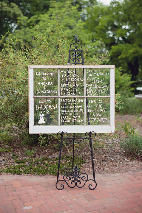 Using old windows as wedding programs
