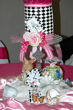 Table Decor for Alice Party