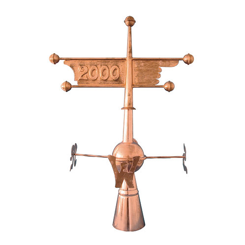 Windfahne mit Windrose (aus Kupfer)