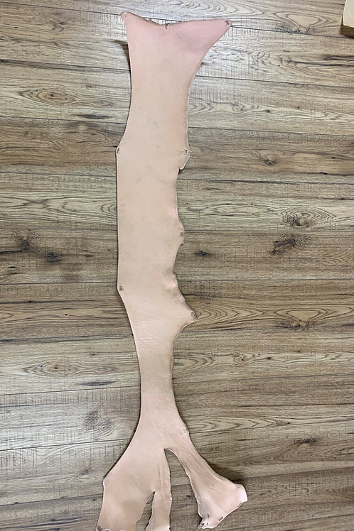VEG TAN EMBOSSING - TOOLING BELLY IN NATURAL 3 - 3.5mm