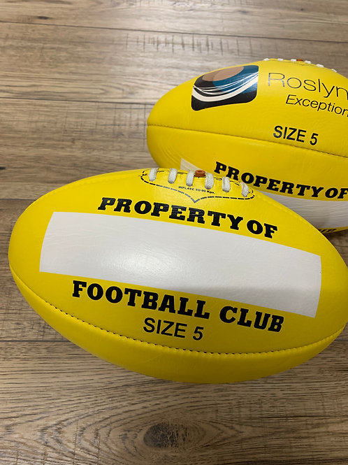 AFL LEATHER FOOTBALL -  SIZE 5 - YELLOW