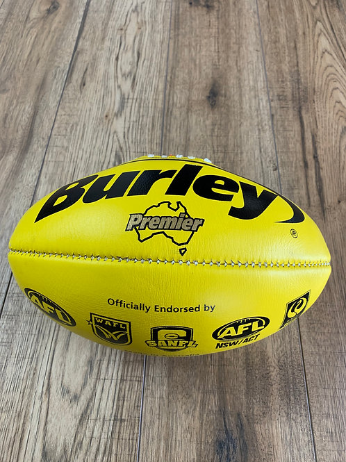 AFL LEATHER FOOTBALL -  SIZE 5 -YELLOW