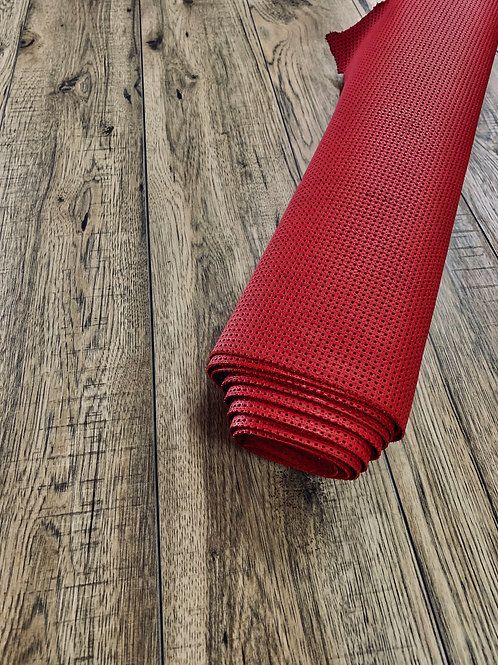 AUTO PUNCH PERFORATE HALF HIDES (x 2) IN HOT RED 1.3 - 1.5mm