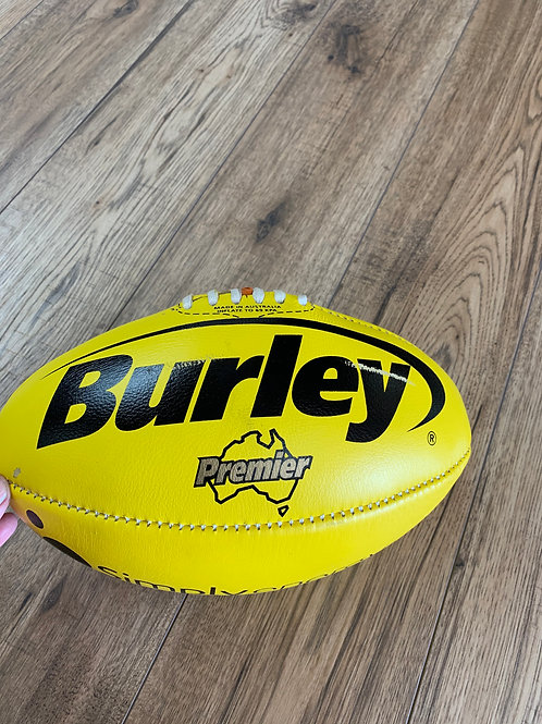 AFL LEATHER FOOTBALL -  SIZE 4 -YELLOW