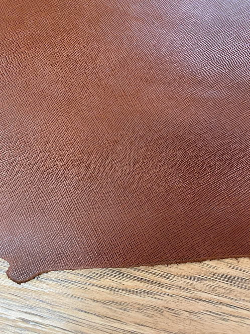 SAFFIANO EMBOSSED SIDE IN TAN  1.6 - 1.8mm