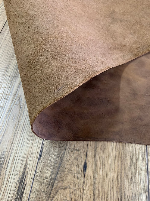 DISTRESSED CRAZY HORSE SHOULDER IN WHISKEY1.8 - 2.2mm