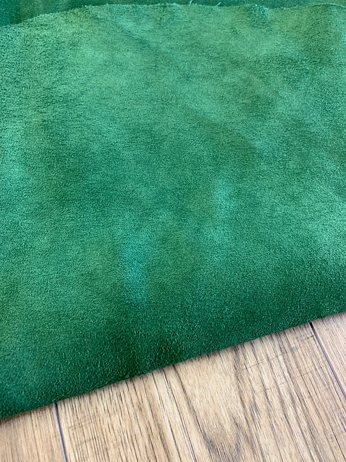 SUEDE DOUBLE BUTT IN EMERALD 1 - 1.2mm