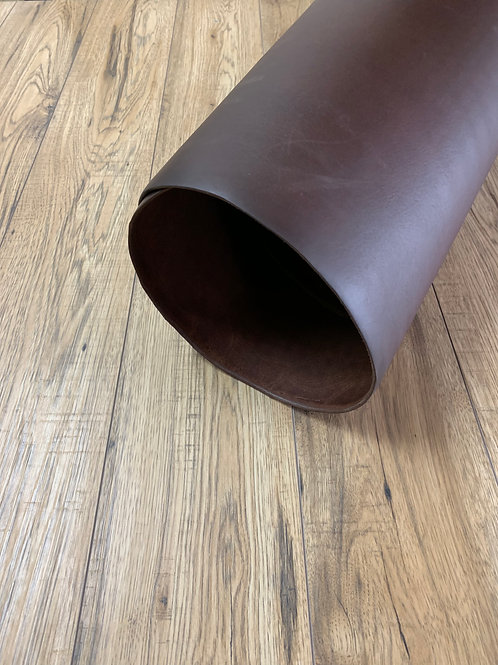 VEG TAN SKIRTING SIDE IN CHOCOLATE 3.5 - 4mm