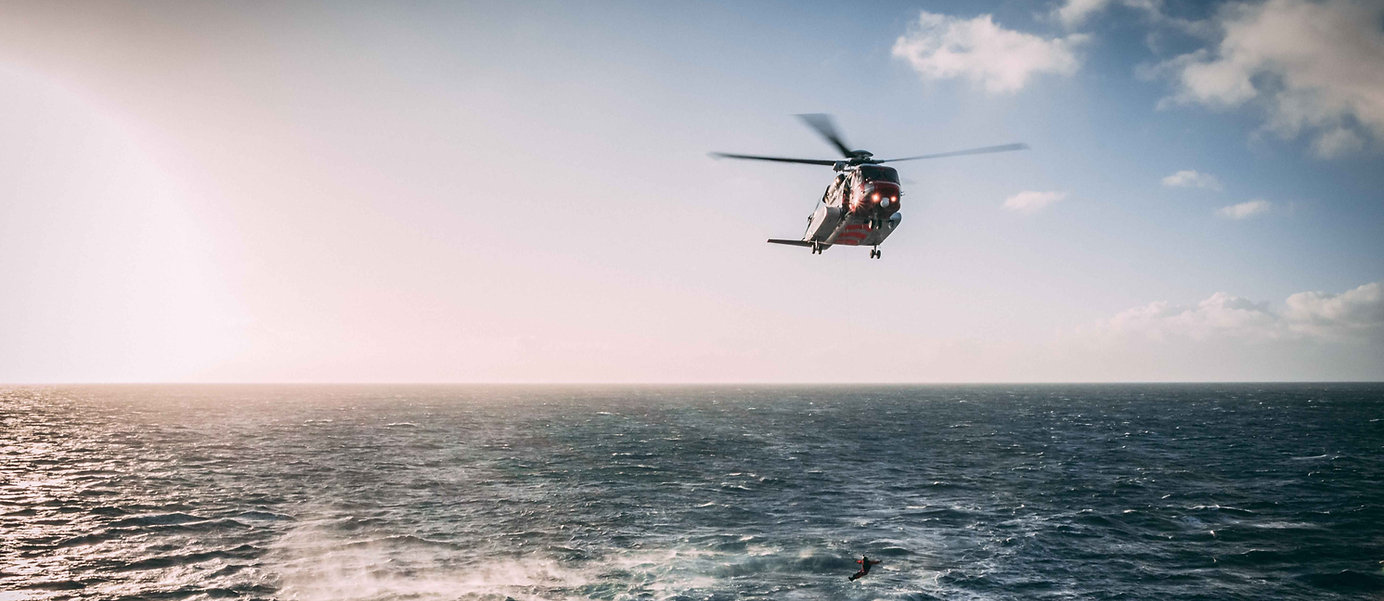evacuation by helicopter
