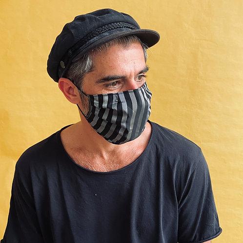STRIPES mask handmade from limited designer-fabrics