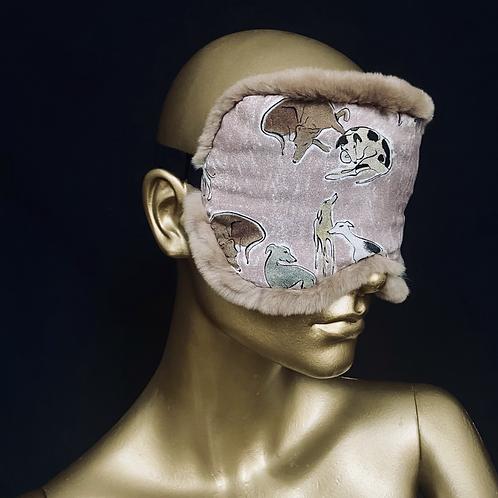 fluffy upcycled dream mask