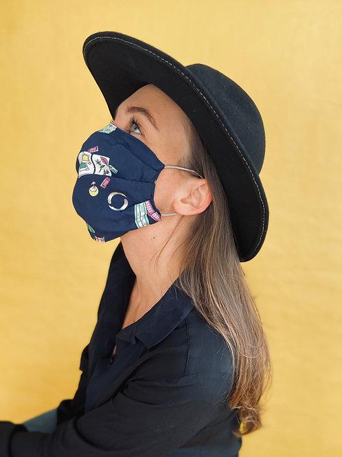 BEACHLIFE mask handmade from limited designer-fabrics
