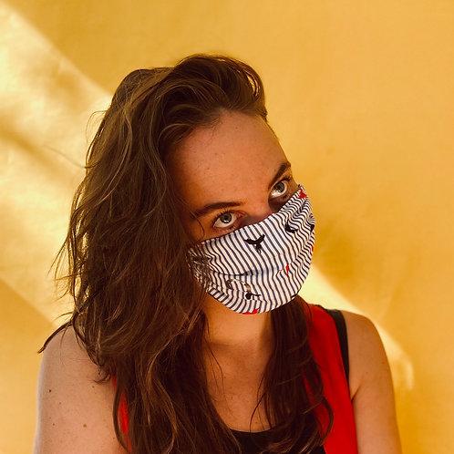 BIRDS mask handmade from limited designer-fabrics