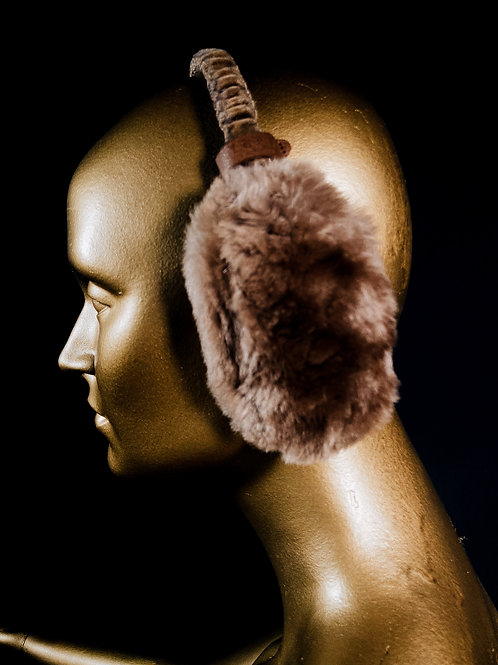 fluffy upcycled earflaps