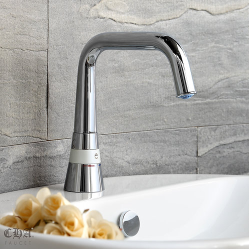 One Touch Long Spout Single-hole Lavatory Faucet